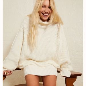 Top Rated!! NWOT Free People Cocoa Sweater - Ivory